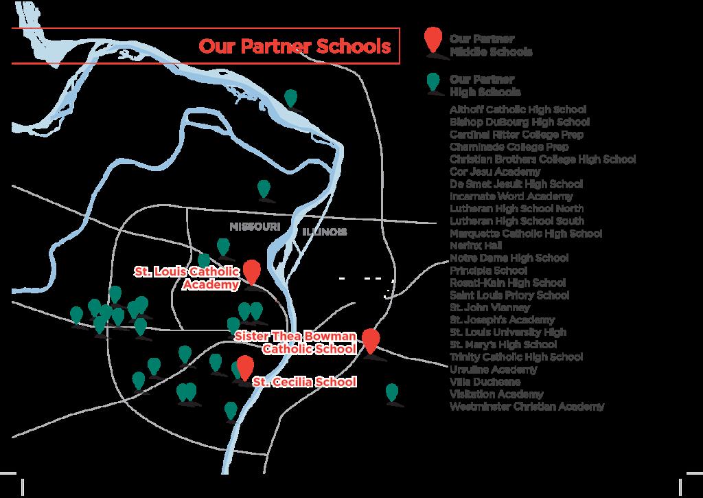 Access Academies Partner Schools Map
